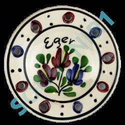 HŰTŐMÁGNES VÁROSLŐDI KERÁMIA, tányér, Eger felirattal