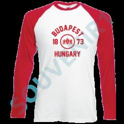 PÓLÓ BBS HOSSZÚ UJJÚ, KÉTSZÍNŰ BP,HUNGARY 1873 BP CÍMERES