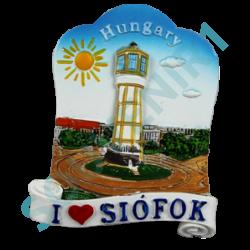 HŰTŐMÁGNES KEPES POLIRESIN I love Siófok