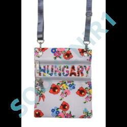 RR Női útlevél táska Hungary feliratos, kalocsai mintás Virág-I