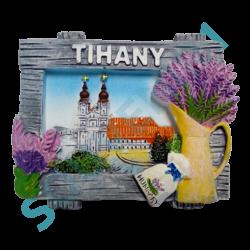 HŰTŐMÁGNES KEPES POLIRESIN-Tihany, városkép+levendula
