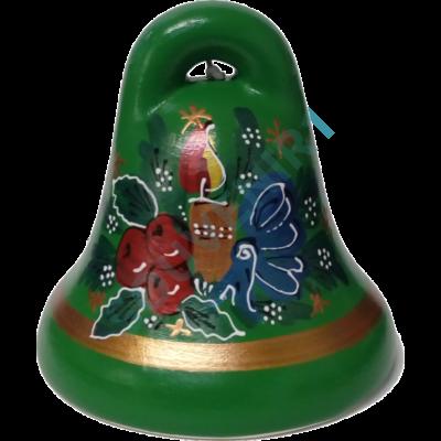 KÉKFESTŐS CSENGŐ Karácsonyi mintával - zöld