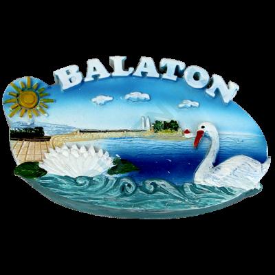 HŰTŐMÁGNES KEPES POLIRESIN Balaton, hattyú