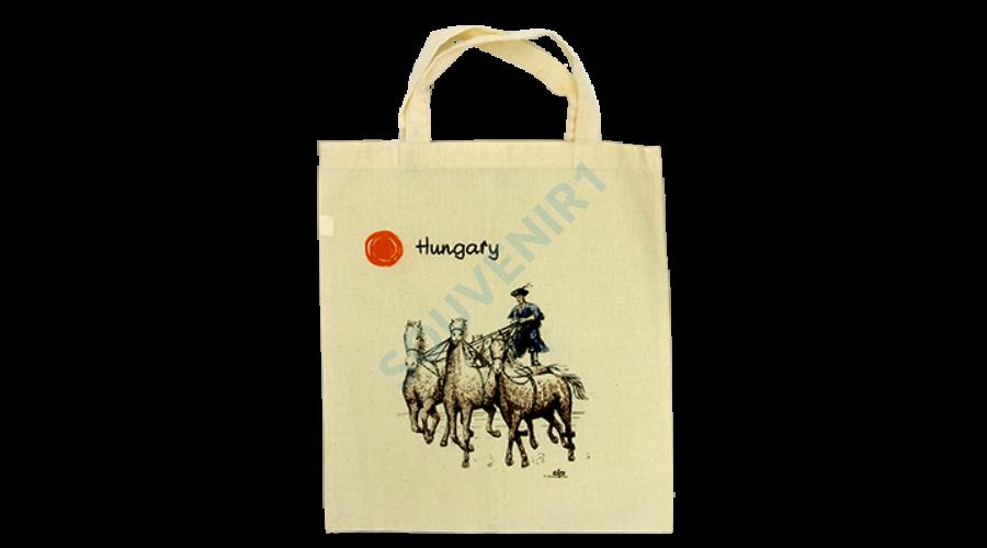Vászontáska 5 lovas Kiegészítő ajándéktárgy